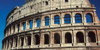 Rome's ancient Colosseum, is one of the many historic treasures of Rome.