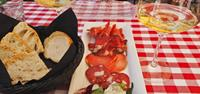 Antipasto and wine in Italy