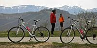 Mountain bikes used in the Balkans