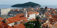 Old Town of Dubrovnik with views of Lockram and the Adriatic Sea