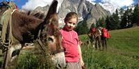 Family walking in the Mont Blanc region can be family friendly