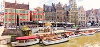 Colourful Ghent in Belgium