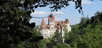 Views of Bran Castle when walking in Romania