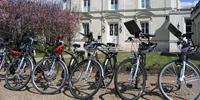 Hybrid bikes used in the Loire Valley, France