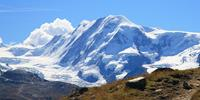 Monte Rosa, the second highest peak in the European Alps