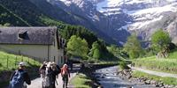Walking towards the Cirque de Gavarnie in the Pyrenees