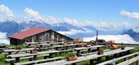 Lunch spot at mountain hut on Mont Blanc walking tour - UTracks Travel