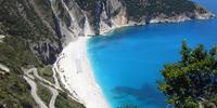 Places like Myrtos Beach are for everyone's eyes, not just Bond's
