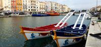 Rowboats in Sete, France