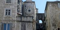 Clock Tower in Historical Complex of Split