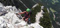 The Via Ferrata 'iron ways' in the Dolomites