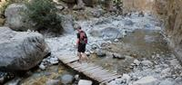 Walking through Samaria Gorge in Crete