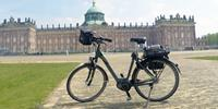 Electric bikes look similiar to hybrid bikes, but they are heavier