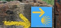 Road sign on Camino de Santiago in Portugal-UTracks Travel