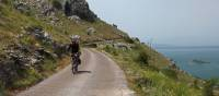 Scenic cycling while on the Croatia to Albania Coastal Cycle