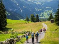 A family hiking in the Alps |  <i>Thomas Larner</i>