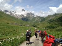 Ascending the Valley of the Glaciers to the Col de la Seigne on the French Italian border |  <i>Kate Baker</i>