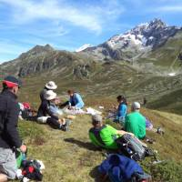 Hikers taking a rest and absorbing the incredible views around Mont Blanc   Kerren Knighton