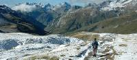 Coming off the Col de la Seigne pass, walkers get great views down to the valley below |  <i>Philip Wyndham</i>
