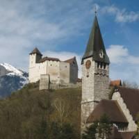 The village of Balzers in Liechtenstein