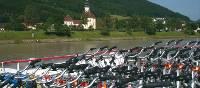 Bikes aboard the boat on the Danube | Kate Baker