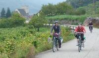 A family riding together through the Wachau region |  <i>Richard Tulloch</i>