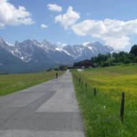 Ride with the Austrian Alps as your backdrop