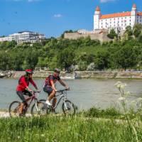 Cycling in beautiful Bratislava
