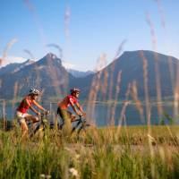 Cycling along Lake Wolfgangsee