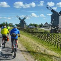 Cycling alongside traditional windmills in Estonia   Gesine Cheung