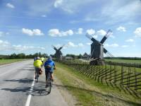 Cycling alongside traditional windmills in Latvia |  <i>Gesine Cheung</i>