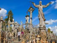 Crosses of every shape and size can be found in Lithuania's Hill of Crosses |  <i>Andrew Bain</i>