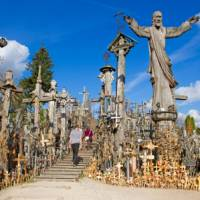 Crosses of every shape and size can be found in Lithuania's Hill of Crosses   Andrew Bain