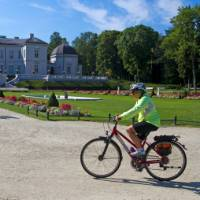 Cycling past the palace in Palanga, Lithuania |  <i>Andrew Bain</i>