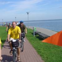 Cycling along the Baltic coastline in Lithuania