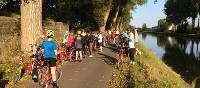 Cyclists near Bruges | Hilary Delbridge
