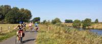 Family cycling in the Flemish countryside | Hilary Delbridge