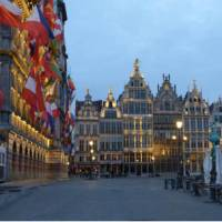 The city of Antwerp in the evening   Richard Tulloch