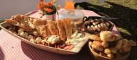 Delicious breads, cheeses and meats to be eaten while on the Via Dinarica