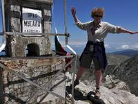 On top of Musala, the highest peak in the Balkan Peninsula
