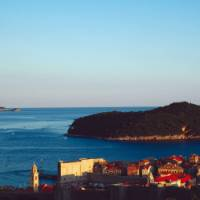 Looking out over the old city of Dubrovnik to Lokram Island | Rachel Imber