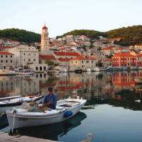 One of the charming port towns we visit on Brac Island, on our Croatian boat based trips