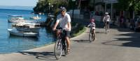 Cycling past boats on the Croatian islands with kids |  <i>Ross Baker</i>