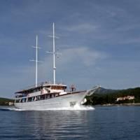 Boat at sea in Croatia