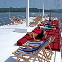 Sun Deck on deluxe boat Harmonia
