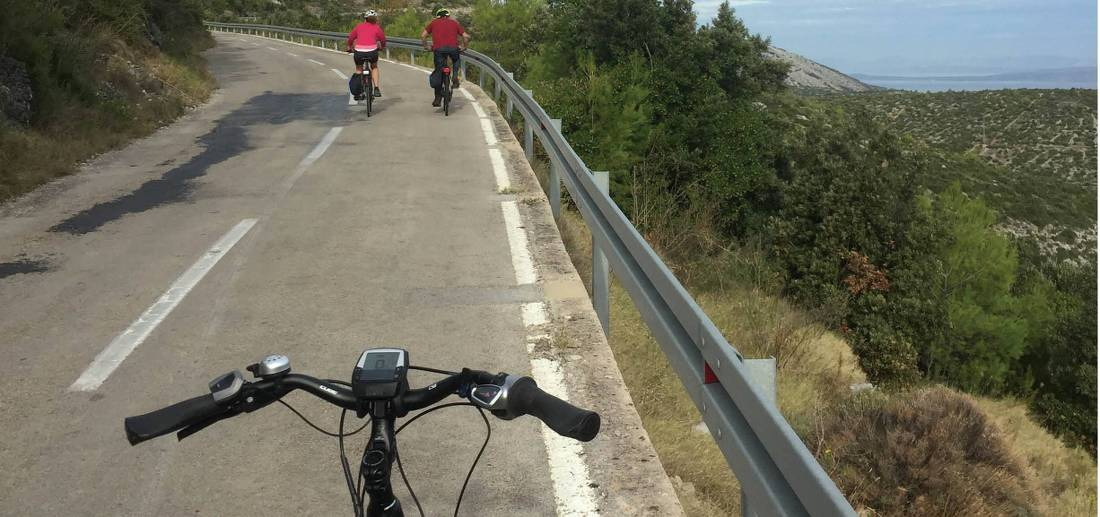 Cycling e-bikes through Hvar in Croatia |  <i>Rob Keating</i>