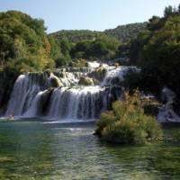 Picturesque Krka National Park in North Dalmatia, Croatia