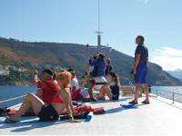 Relaxing on the sundeck in Kvarner Bay