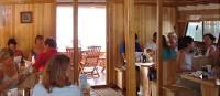 Dining room aboard Linda, Kvarner Bay, Croatia