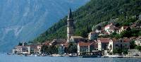 The old town of Perast on the edge of Kotor Bay